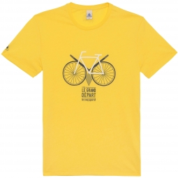 LE COQ SPORTIF T-Shirt Tour de France N°13 Leeds, le grand départ Jaune