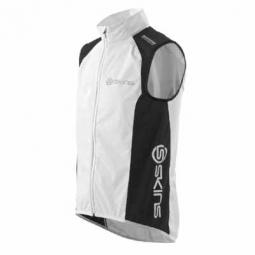 SKINS Gilet Coupe Vent CYCLE Blanc Noir