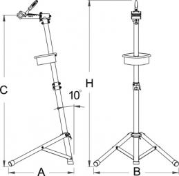 UNIOR Pied d´atelier amateur pour tubes de 24 à 38 mm