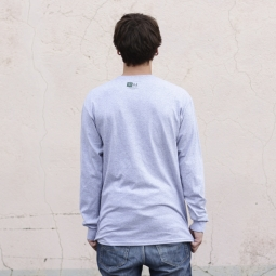 MARIE JADE Tee Shirt Manches Longues PATCH Gris