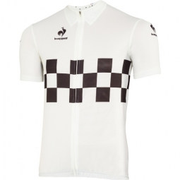 LE COQ SPORTIF Maillot Manches Courtes CHECKERED Blanc