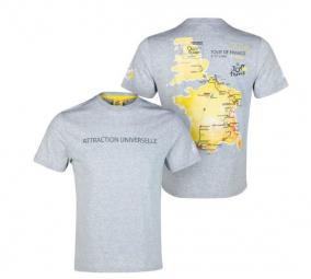 TOUR DE FRANCE T-shirt PARCOURS TDF Gris