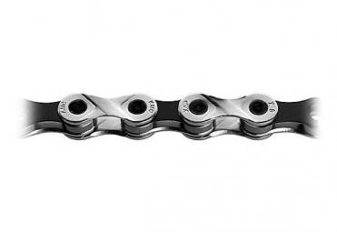 KMC Chaine X9 VIVID 116 Maillons Silver Noir