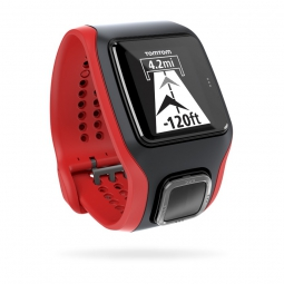 TOMTOM Montre MULTI-SPORT CARDIO GPS + CCS + AT Noir Rouge