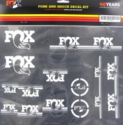 FOX RACING SHOX Kit stickers Heritage Fourche et amortisseur Blanc