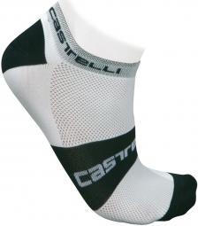 CASTELLI Paire de Chaussettes LOWBOY SOCKS Blanc Noir