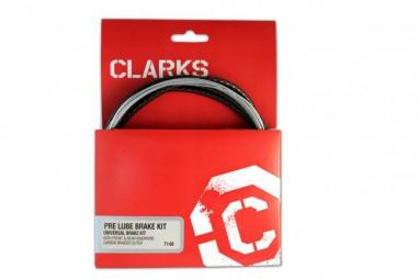 CLARKS Kit Complet Câbles et Gaines Freins Pré Lubrifié VTT Route Noir