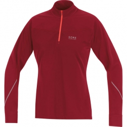 GORE RUNNING WEAR Maillot Femme ESSENTIAL Thermo Rouge