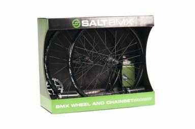 SALT Pack de Roues +Plateau + Chaine + Pegs VALLON Noir