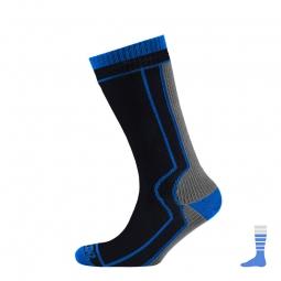 SEALSKINZ Chaussettes THICK MID LENGHT (mi-mollet) Gris Bleu
