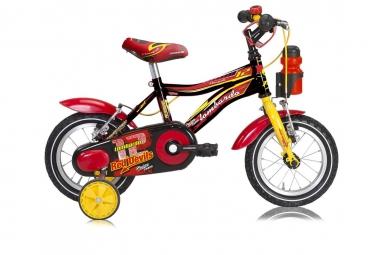 LOMBARDO Vélo enfant MONOPOLI 12´´ Noir/Rouge/Jaune