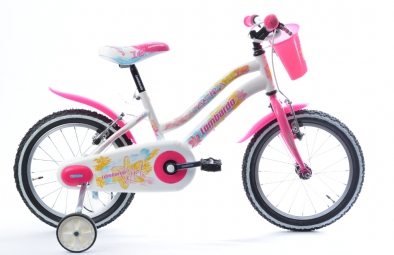 LOMBARDO Vélo enfant AKYRA 16´´ Blanc/Fushia Fille