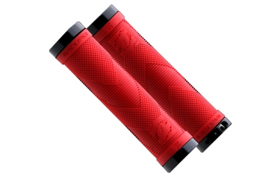 RACE FACE Paire deGrips SNIPER Lock-On Rouge