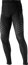 SALOMON Collant long ENDURANCE TIGHT Noir