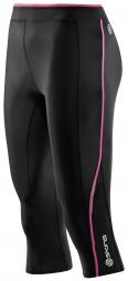 SKINS Collant 3/4 Femme A200 Noir Rose