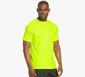 UNDER ARMOUR Maillot HEATGEAR FLYWEIGHT RUN Jaune Fluo