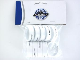 RITCHEY Entretoises Aluminium Blanc 10mm (Sachet de 10)
