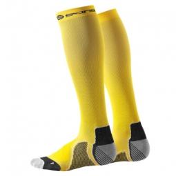 SKINS Paire de chaussettes de compression ESSENTIALS Jaune