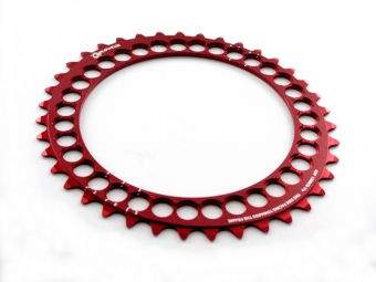 ROTOR Plateau Q-RINGS Intérieur BCD 110mm 5 branches Rouge