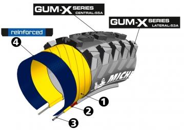 MICHELIN Pneu WILDRACE´R 2 ADVANCED Reinforced GUM-X 27.5 x 2.25´´ Tubeless Ready
