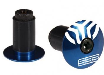 SB3 Embouts de Guidon Alu Bleu