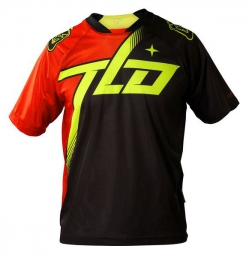 TROY LEE DESIGN Maillot Manches Courtes SKYLINE TILT Rouge/Jaune