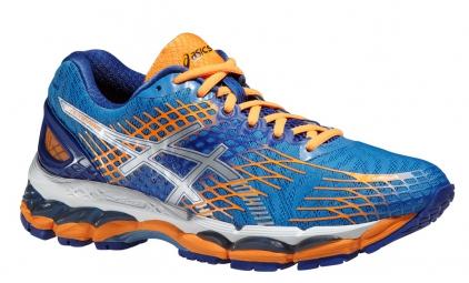 ASICS Chaussures GEL NIMBUS 17 Bleu Orange Femme