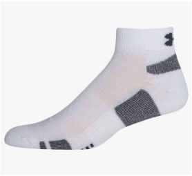 UNDER ARMOUR Paires de Chaussettes x3 Hommes HEATGEAR LOW CUT Blanc