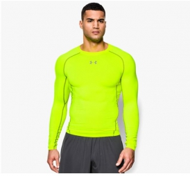 UNDER ARMOUR T-Shirt Compression Manches Longues HEATGEAR ARMOUR Jaune