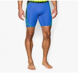 UNDER ARMOUR Short Compression HEATGEAR ARMOURVENT Bleu