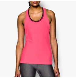 UNDER ARMOUR Débardeur Femmes HEATGEAR ALPHA MESH Rose