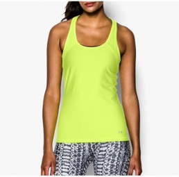 UNDER ARMOUR Débardeur Femmes HEATGEAR ALPHA MESH Jaune