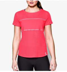 UNDER ARMOUR T-Shirt Manches Courtes Femmes FLY FAST Rose