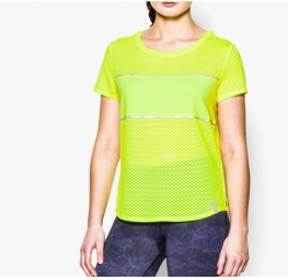 UNDER ARMOUR T-Shirt Manches Courtes Femmes FLY FAST Jaune