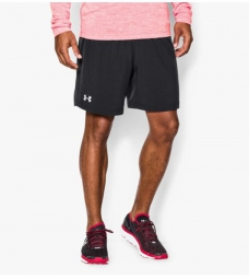 UNDER ARMOUR Short Homme LAUNCH 2 EN 1 Noir