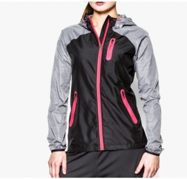 UNDER ARMOUR Veste Femme QUALIFIER Noir/Rose