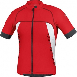 GORE BIKE WEAR 2015 Maillot Manches courtes ALP-X PRO Rouge/Blanc