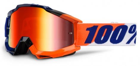 100% Masque ACCURI WILSONIAN Bleu/Orange Ecran Mirror Red