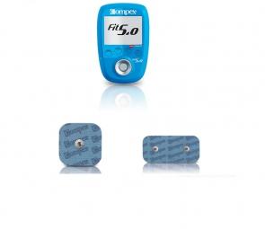 COMPEX Electro Stimulateur FIT 5.0 + COMPEX 4 Électrodes EasySnap Performance 50 x 5