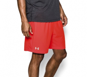 Photo ref 810 UNDER ARMOUR Short Homme LAUNCH 2 EN 1 Orange