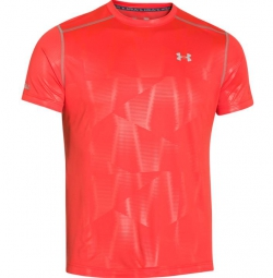 Photo ref 810 UNDER ARMOUR Maillot Manches Courtes COLDBLACK Orange