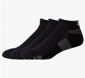 UNDER ARMOUR HeatGear Low Cut 3-Pack Mens Socks - Black