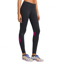 UNDER ARMOUR Legging Femme FLY-BY Noir/Magenta