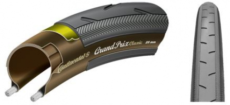 CONTINENTAL Pneu Grand Prix GP Classic 700x25C Tringle Souple Noir