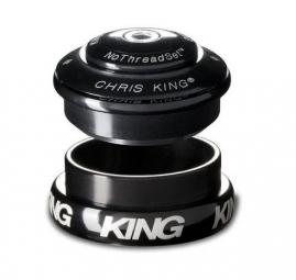 CHRIS KING Jeu de Direction INSET 8 Semi-Intégré / Externe Conique 1-1/8´´ 1-1/4´´ NOIR