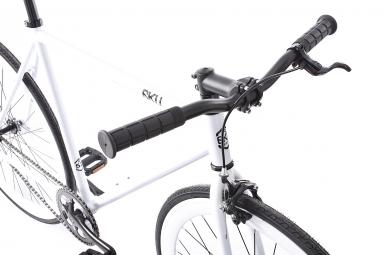 6KU Vélo Complet Fixie Evian 1 Blanc