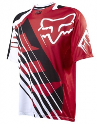 FOX Maillot manches courtes DEMO SAVANT Rouge