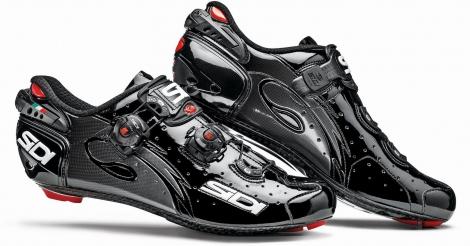 Chaussures Route Sidi Wire Carbon 2015 Noir verni
