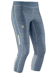 SALOMON 2015 Collant de Compression 3/4 ELEVATE Gris Femme