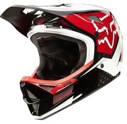 Casque intégral Fox RAMPAGE PRO CARBON DEMO MIPS Rouge Blanc